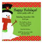 Jolly Snowman Holiday Party Invitation