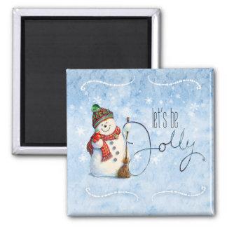 Jolly Snowman LBJa Magnet