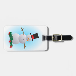 Jolly Snowman Tag For Luggage