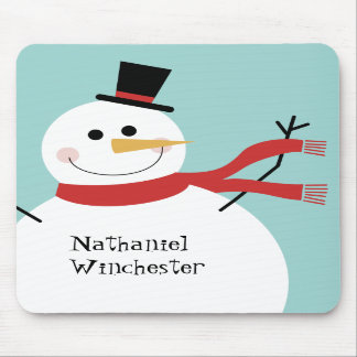 Jolly Snowman Mouse Pads