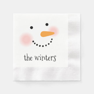 Jolly Snowman | Personalized Holiday Napkins