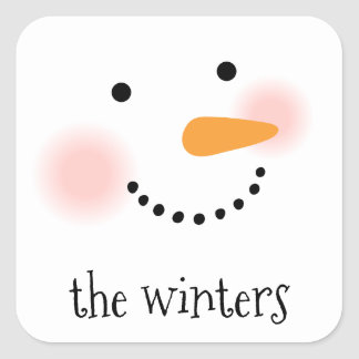 Jolly Snowman | Personalized Holiday Stickers