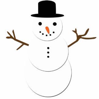 Jolly snowman photo sculpture