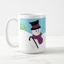 Jolly Snowman with Saying Coffee Mug