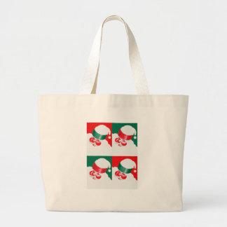 Jolly St Nick - Quad Large Tote Bag