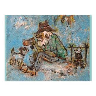 Jolly swagman postcard