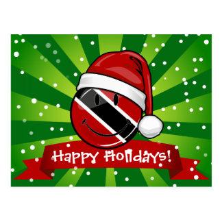 Jolly Trinidad Flag Christmas Style Postcard