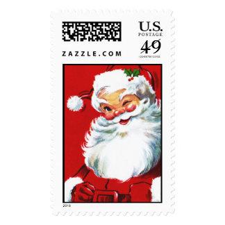 Jolly Vintage Santa Postage