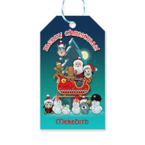 Jolly Winter Holiday Scene Gift Tags