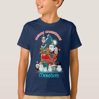 Jolly Winter Holiday Scene T-Shirt
