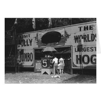 Jolly World's Largest Hog Vintage Carnival Photo Card