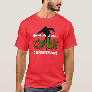 Jolly ZOMBIE Christmas Red T-Shirt
