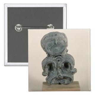 Jomon figurine pinback button