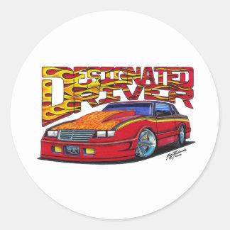 jon2-v1 classic round sticker