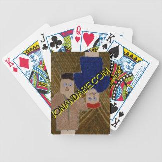 Jon & Abe playing cards