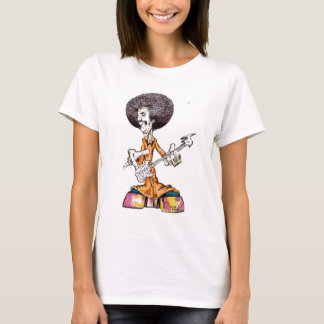 Jon Cade Animation Styled Afro Bass Dude T-Shirt