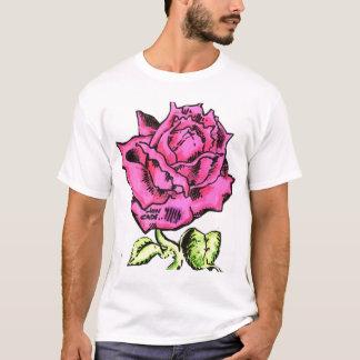 Jon Cade Animation Styled Pink Rose T-Shirt
