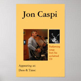 Jon Caspi - Performance Poster