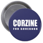 JON CORZINE Election Gear Button