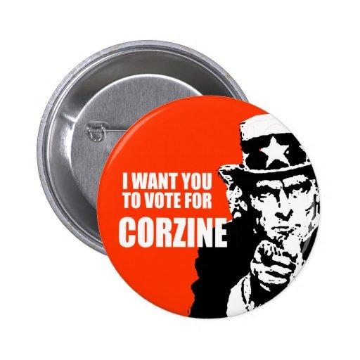 JON CORZINE Election Gear Pinback Buttons