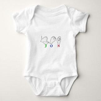 JON FINGERSPELLED NAME ASL SIGN BABY BODYSUIT