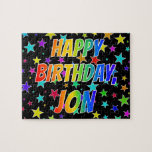 "[ Thumbnail: ""Jon"" First Name, Fun ""Happy Birthday"" Jigsaw Puzzle ]"