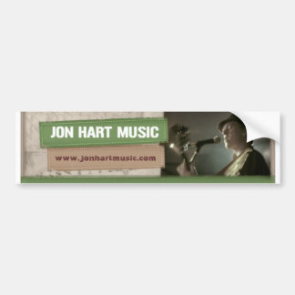 Jon Hart Music banner sticker Bumper Stickers