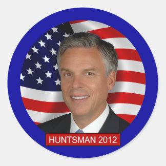 Jon Huntsman 2012 Classic Round Sticker