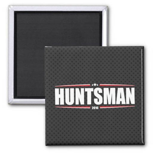Jon Huntsman 2016 (Stars & Stripes - Black) 2 Inch Square Magnet