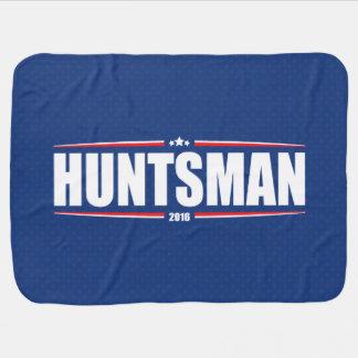 Jon Huntsman 2016 (Stars & Stripes - Blue) Receiving Blanket