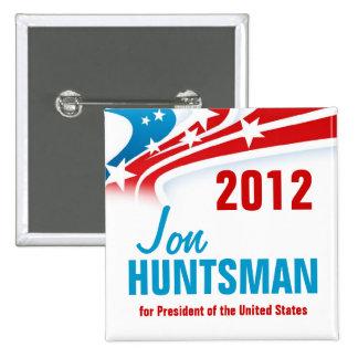 Jon Huntsman 2 Inch Square Button
