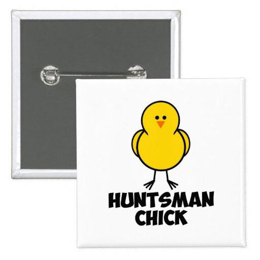 Jon Huntsman Chick 2 Inch Square Button