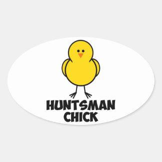 Jon Huntsman Chick Oval Sticker