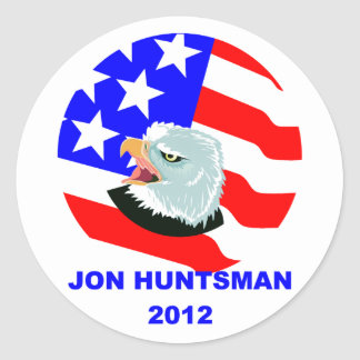 JON HUNTSMAN CLASSIC ROUND STICKER