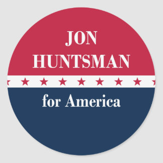 Jon Huntsman for America Classic Round Sticker