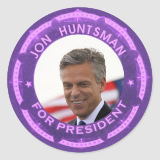 Jon Huntsman for President in 2012 Classic Round Sticker