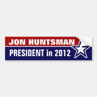 Jon Huntsman in 2012 Bumper Sticker