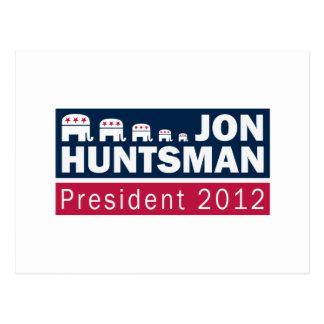Jon Huntsman President 2012 Republican Elephant Postcard
