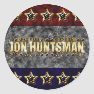 Jon Huntsman Stars and Stripes Classic Round Sticker