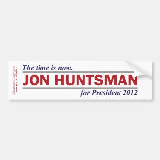 Jon Huntsman The Time is Now President 2012 Bumper Sticker