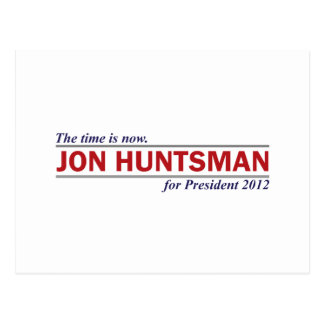 Jon Huntsman The Time is Now President 2012 Postcard