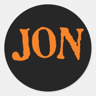 Jon Instant Costume Classic Round Sticker