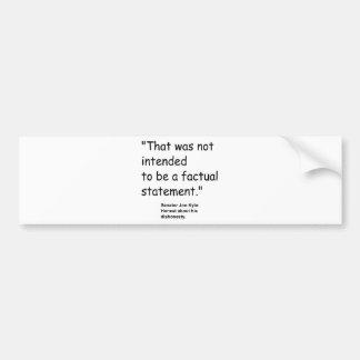 Jon Kyl Bumper Stickers