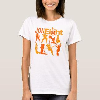 Jon más la camiseta de ocho mujeres
