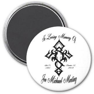 Jon Michael Tattoo 3 3 Inch Round Magnet
