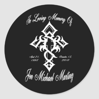 Jon Michael Tattoo 3 Classic Round Sticker