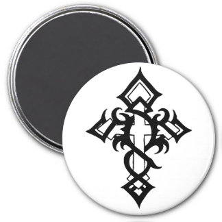 Jon Michael Tattoo 3 Inch Round Magnet