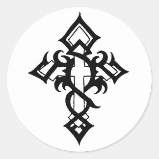 Jon Michael Tattoo Classic Round Sticker
