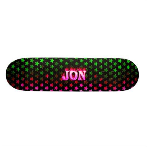 Jon pink fire Skatersollie skateboard. Skate Board
