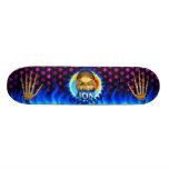 Jon skull blue fire Skatersollie skateboard.